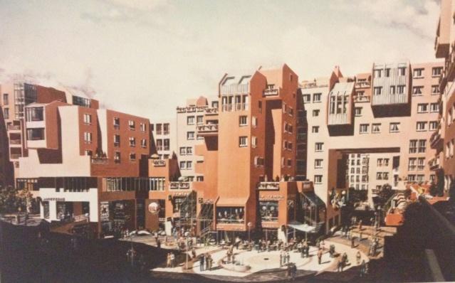 Le Quartier de l'Horloge dans la plaquette du promoteur COGEDIM: une ville nouvelle empreinte d'histoire.