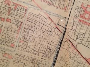 Plan du Marais (extrait). Intérêt esthétique actuel. Direction de l'urbanisme. Préfecture de la Seine. Echelle 1/2 000. 1965.