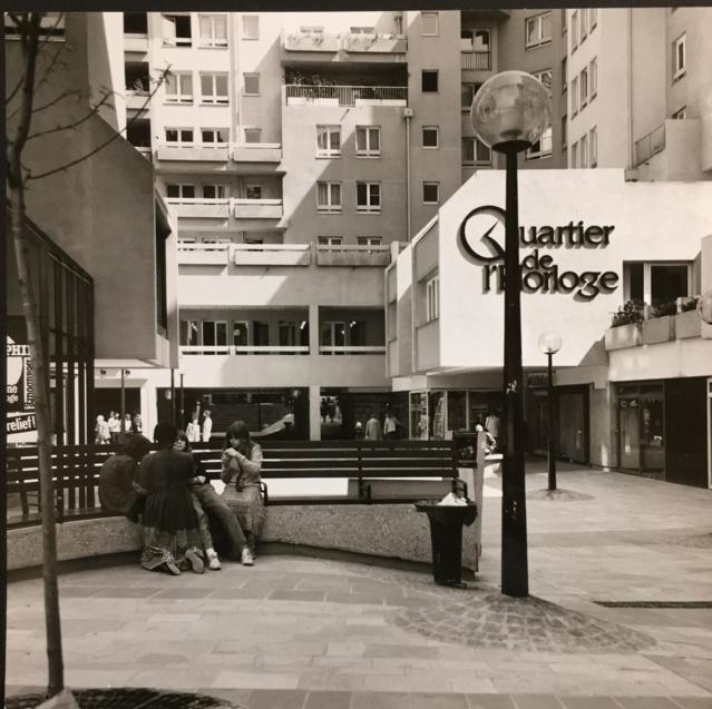 Le centre piéton du Quartier de l'Horloge. (Source : Archives d'architecture du XXème siècle.)