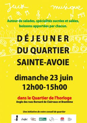 Repas de quartier Sainte-Avoie