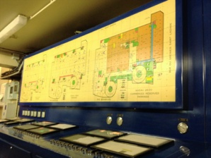 Le synoptique central des alarmes de fonctionnement: l'objet des malentendus de gestion. Il est géré par DALKIA, le gestionnaire technique du site.