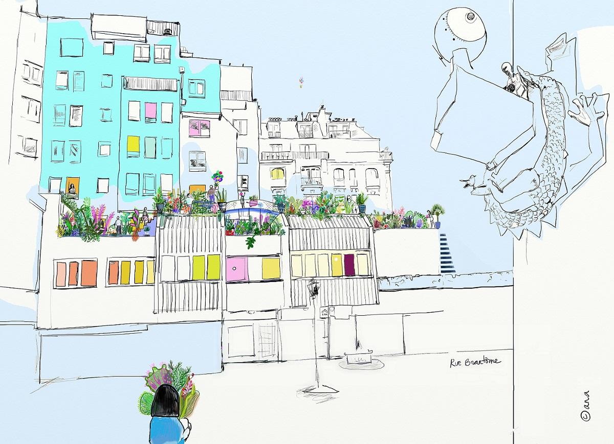Le projet de jardin partagé doit être réalisé pour le printemps 2019. Illustration: Ana Corrales - assocation TEMPO