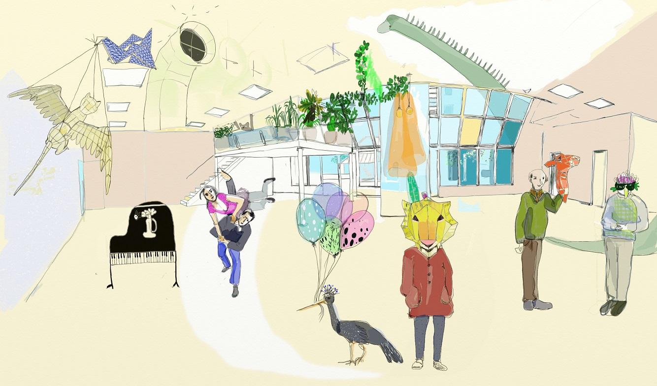 Un projet innovant pour le futur de l'école maternelle Brantôme. - Illustration : Ana Corrales