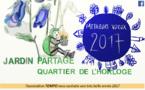 L'association TEMPO et le jardin partagé du Quartier de l'Horloge vous souhaite de belles fêtes !